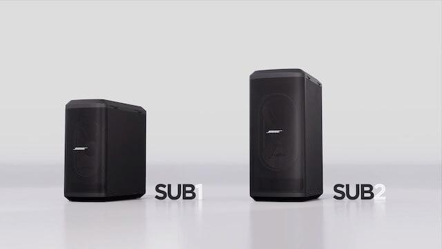Los Bose subwoofers SUB1 y SUB2. Gama alta de la baja frecuencia
